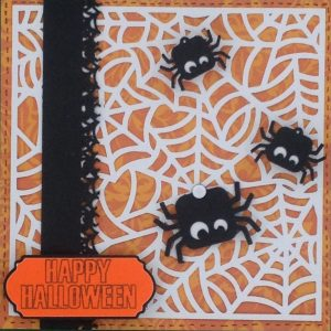 happy halloween spirders card - cricut