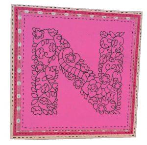 n card with cricut monogram motifs