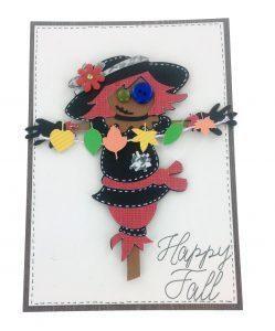 Scarecrow card using the Simply Scarecrow Cricut Cartridge
