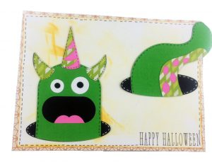 beware card from cricut min monsters