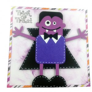 dracula card from cricut min monsters