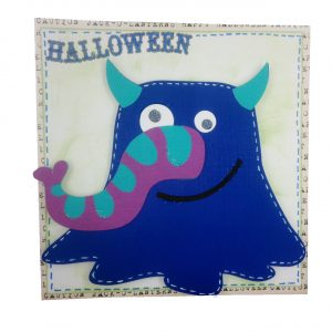 ghoul card from cricut min monsters