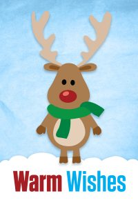 warm wishes rudolph concept