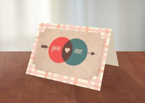 you and me card design download