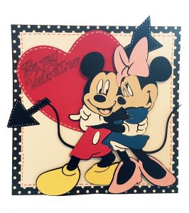 micky and mini valentines card