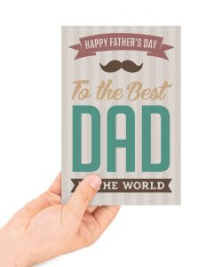 fathers day best dad card concept available for download