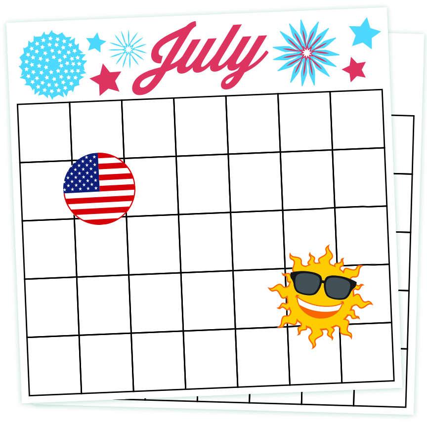 july calendar design concept july 2016