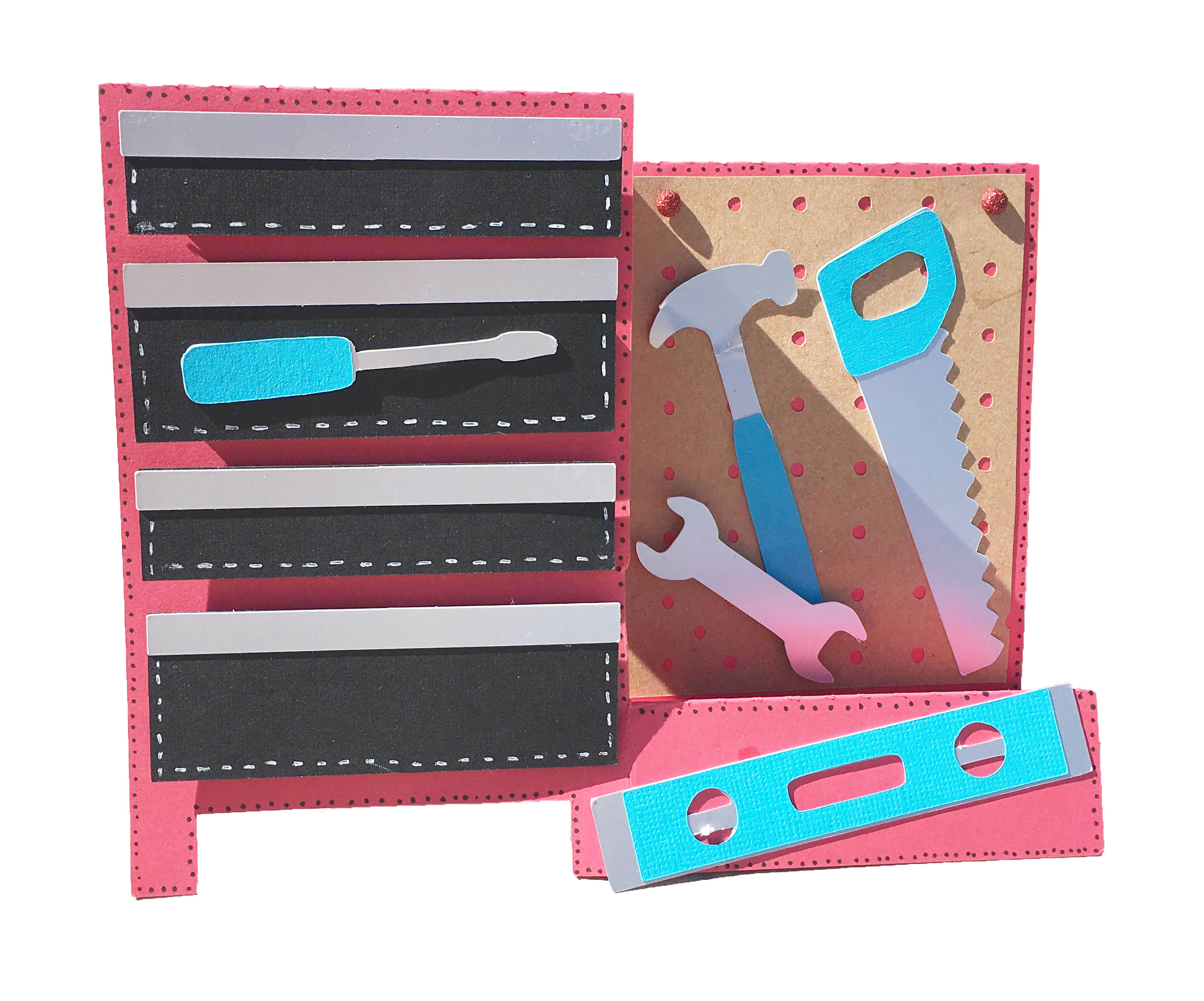 Fathers Day tool box card