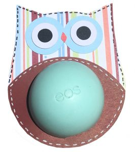 owl EOS lip balm holder from the to you from me cricut cartridge