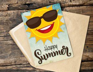 Happy Summer Sunshine Card