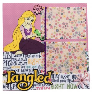 Tangled Cricut Scrapbook Layout