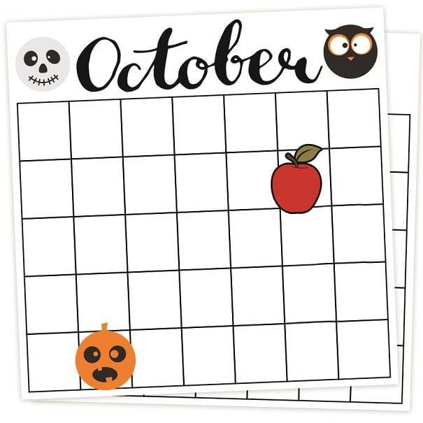 calendar october svg example