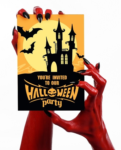 halloween party svg download card example