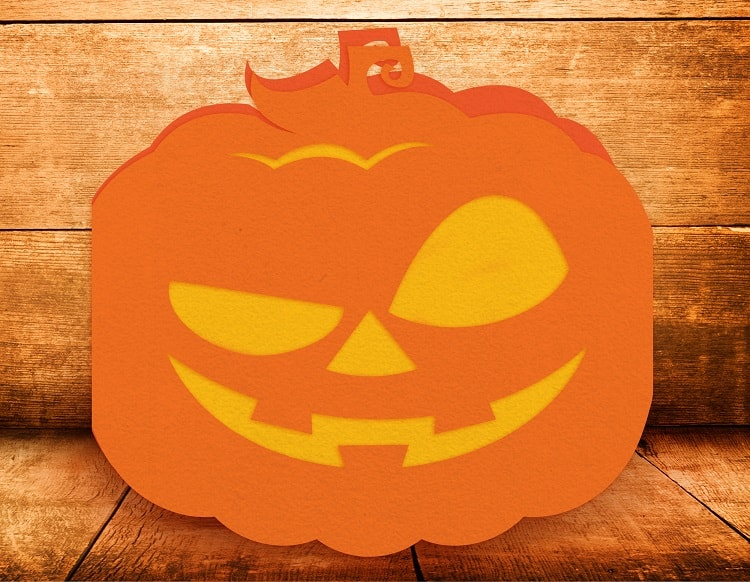 jack o lantern card example svg download
