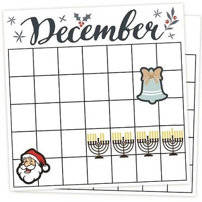 December 2016 - Downloadable Calendar Example