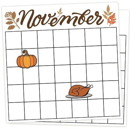 calendar designs - thanksgiving .svg project