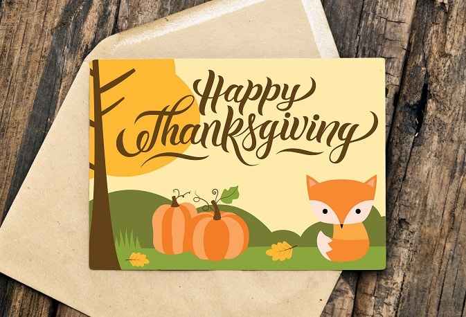 happy thanksgiving card project
