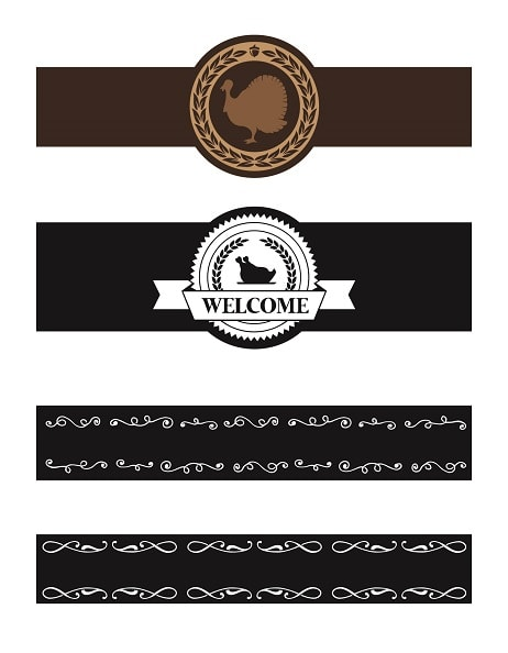 napkin ring designs - thanksgiving .svg project