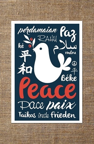 Peace Dove Card - Free Download Example