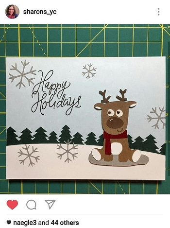 reindeer card by @sharons_yc