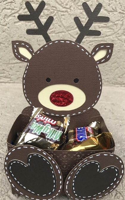 Lori Whitlock Reindeer treat box