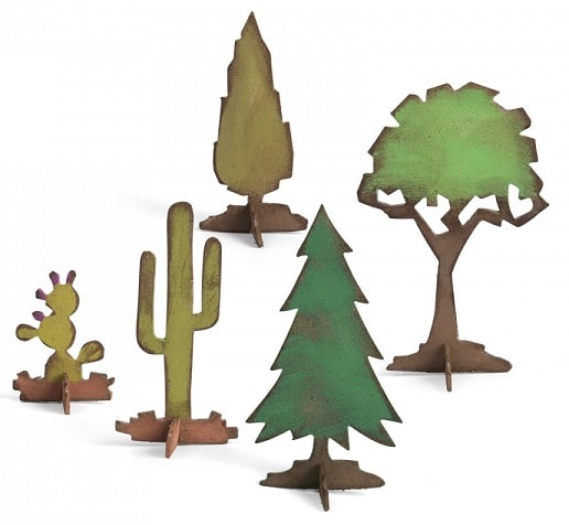 sizzix village landscape trees and cacti