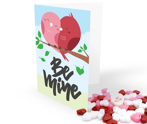 be mine diy greeting card concept