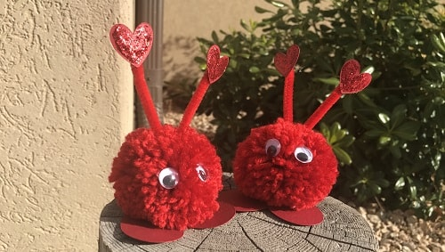valentine pom pom craft project