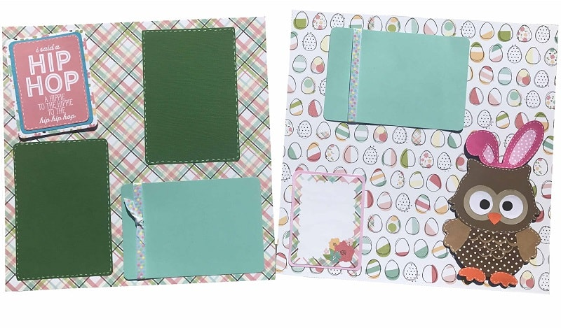 easter scrapbook layout tutorial completed design