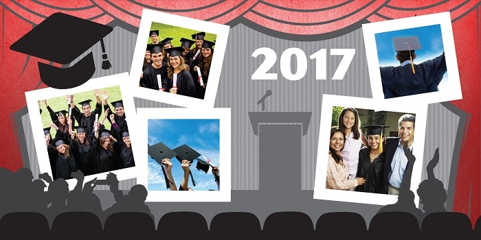 graduation 2017 scrapbook layout concept