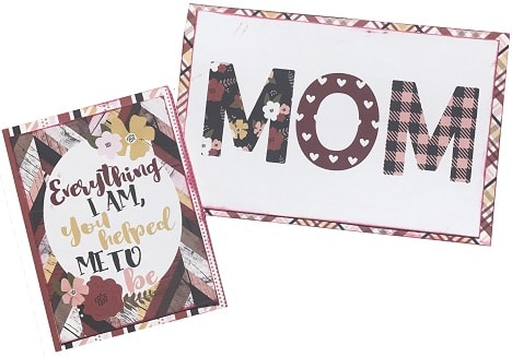 completed mother's day card ideas