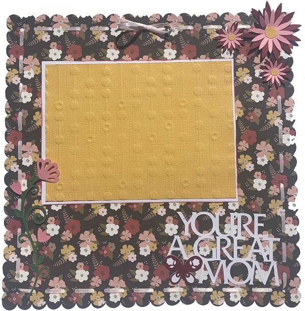 finished mother's day scrapbook layout idea