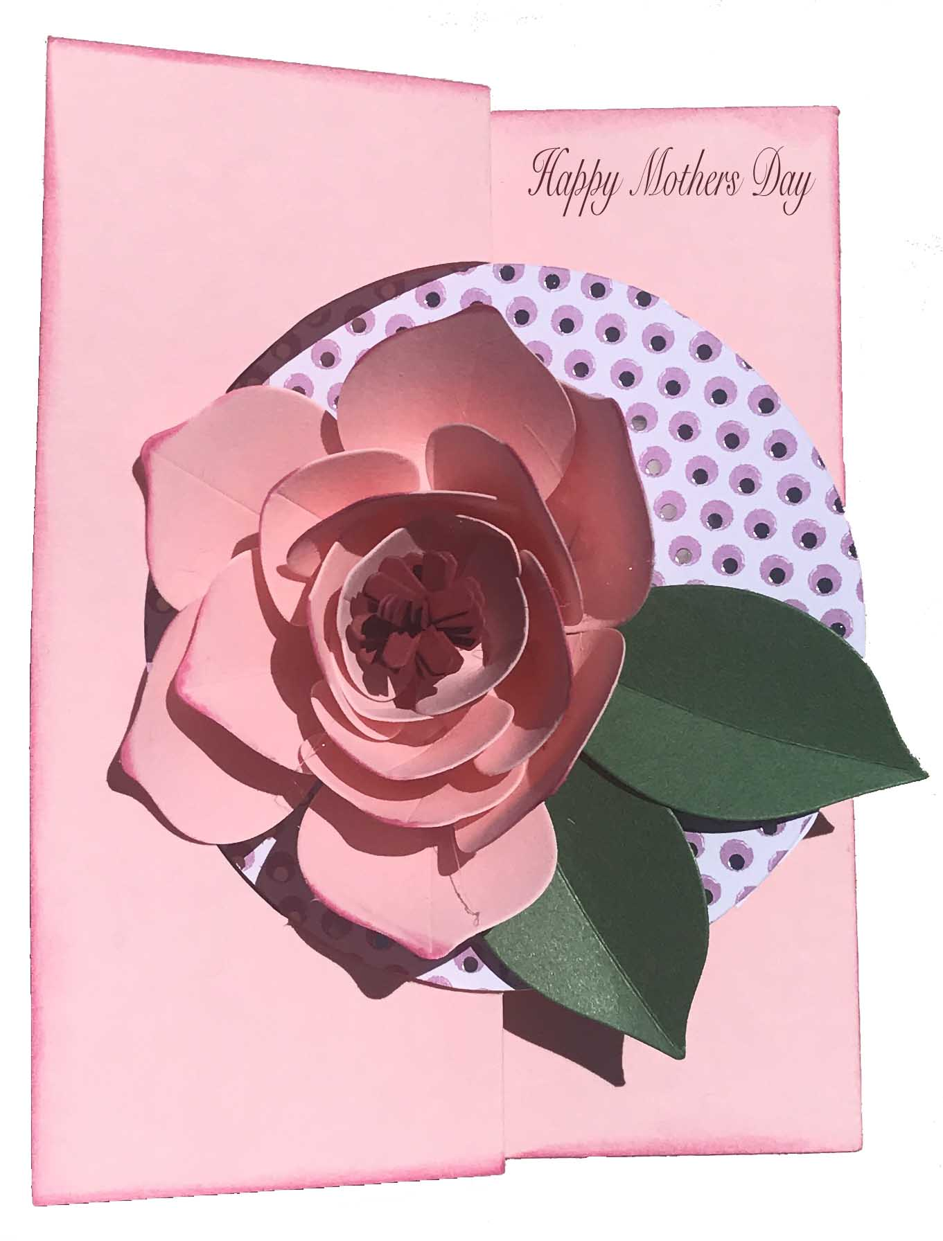 card made with the sizzix large 3-d thinlits die set