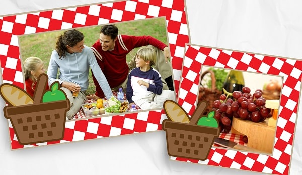 picnic picture frames project example
