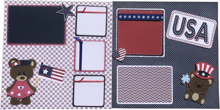 4th of july scrapbook layout project
