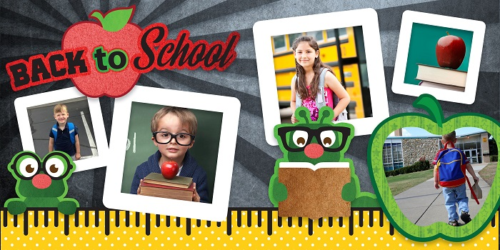 back to school layout design concept