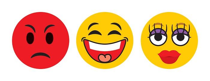 emoji icons 3 design concept