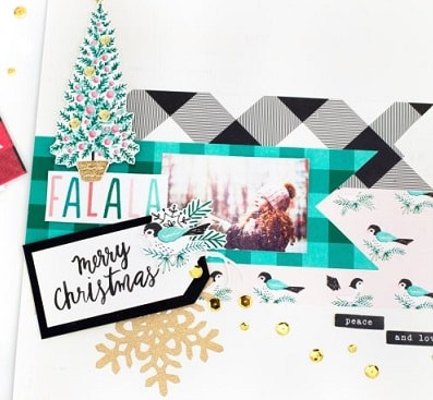scrapbook layout using the falala by crate paper