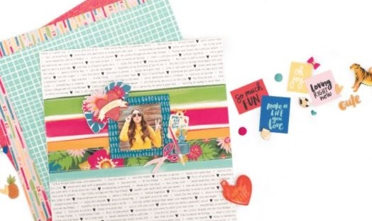 scrapbook layouts using hustle and heart by amy tangerine