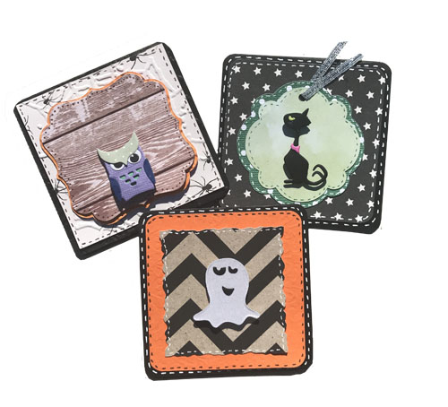 cards made with Mini Halloween Things Thinlits dies