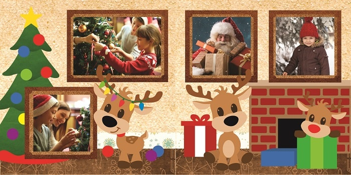 example of the christmas reindeer layout svg project completed