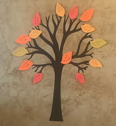 thanksgiving tree craft project completed