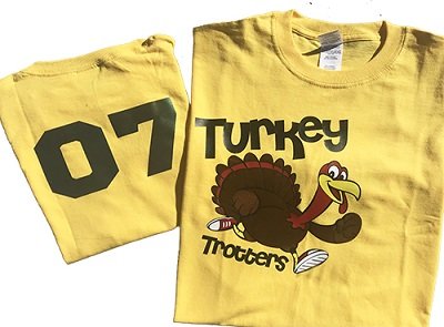 turkey trotters t-shirt thanksgiving craft project