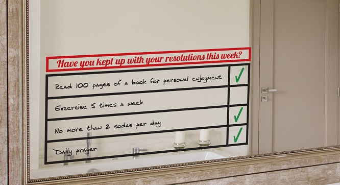 example of new year's resolution chart project