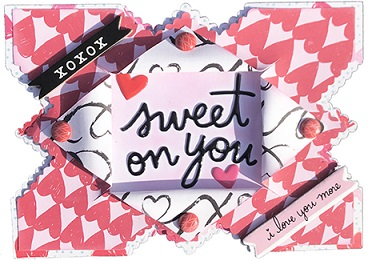 homemade sweet on you valentine's card