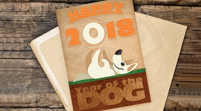 example of the year of the dog card project