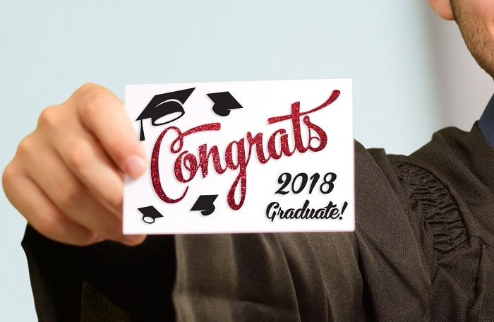 congrats graduate card concept