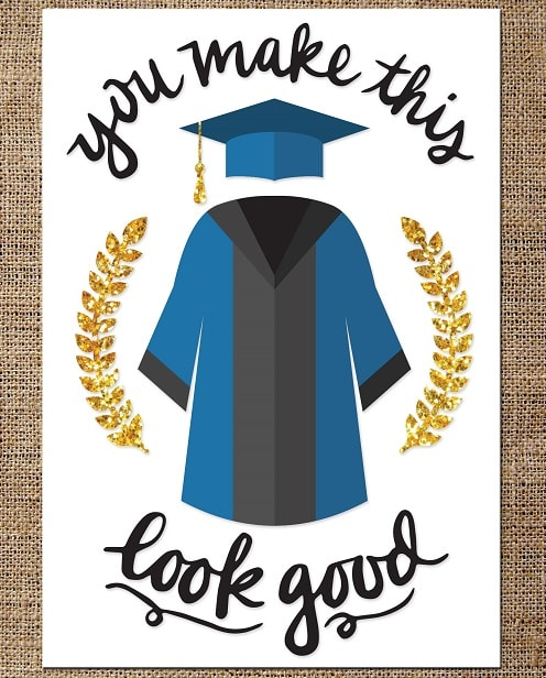 you make this look good graduation card concept