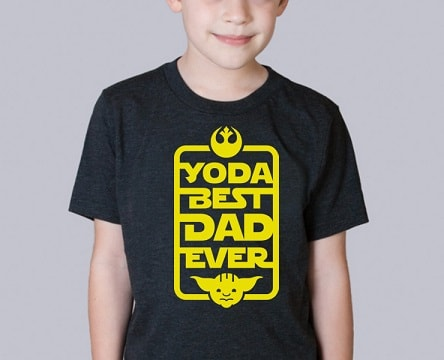 you can make this Yoda father's day t-shirt design