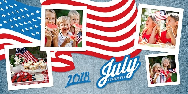 new 2018 4th of july layout concept example